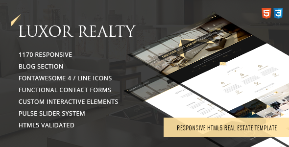 LUXOR - Responsive HTML5 Real Estate Template            TFx