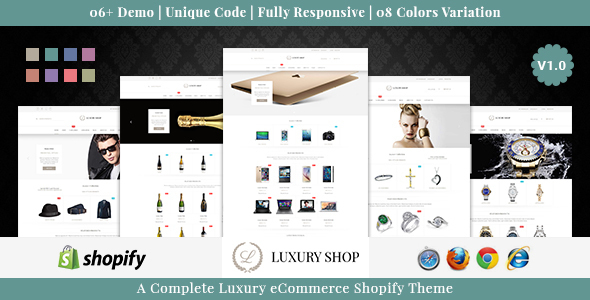 Luxury Shop - Responsive Shopify Theme            TFx