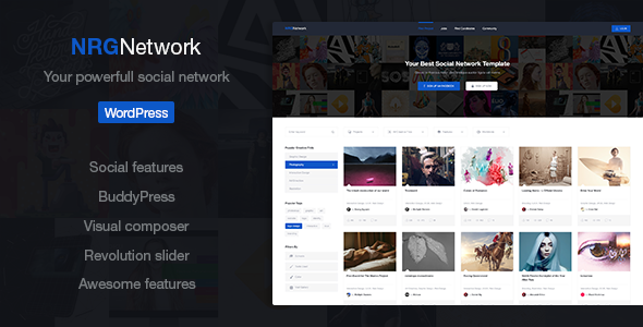 NRGnetwork - Your Powerful Social Network Theme            TFx