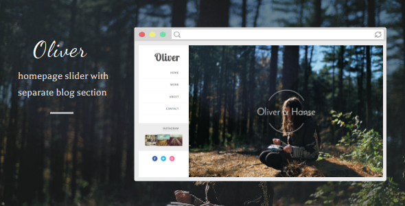 Oliver - Responsive Blogger Template            TFx