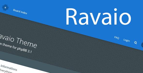 Ravaio - Modern Responsive phpBB Forum Theme            TFx