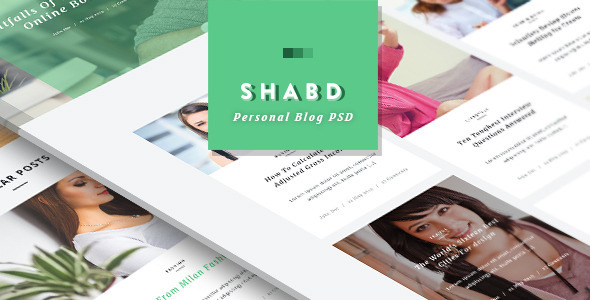 Shabd - Personal Blog PSD Template            TFx