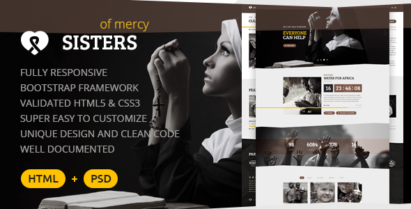 Sisters of Mercy — Nonprofit HTML Template            TFx
