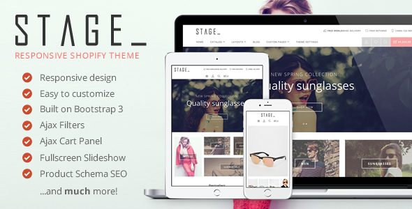 Stage - Responsive Shopify Theme            TFx