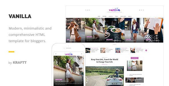 Vanilla - Responsive HTML Template for Bloggers            TFx
