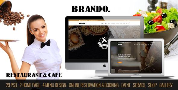 BRANDO - Restaurant & Cafe Online Booking Table            TFx