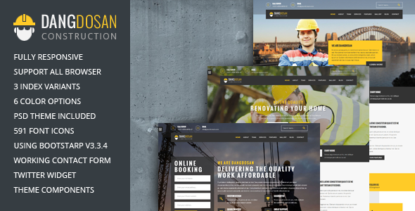 Dangdosan modern construction template            TFx