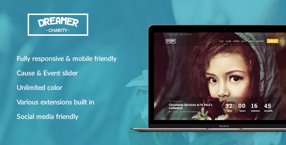Dreamer - Multipurpose Charity Joomla Template            TFx