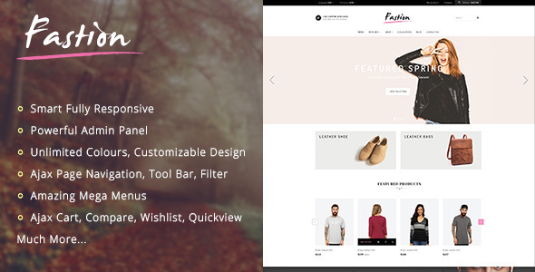 FASTION - Responsive Shopify Theme            TFx