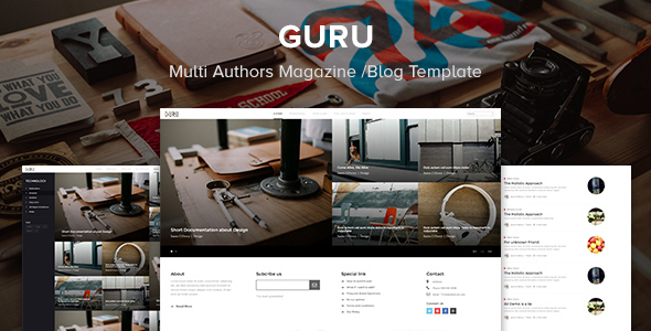 Guru - Multi Authors Magazine/Blog Template            TFx