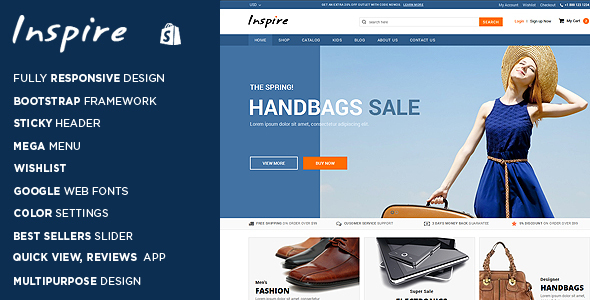 Inspire - Responsive Shopify Theme            TFx