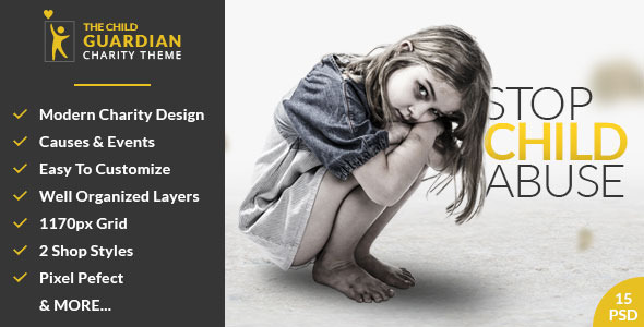 The Child Guardian - Charity PSD Template            TFx