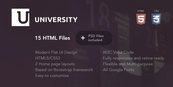 University – Education HTML Template            TFx