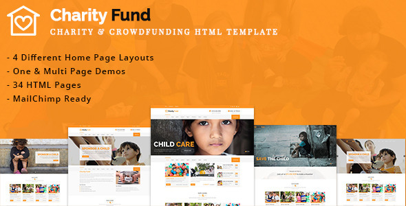CharityFund - Charity & Crowdfunding HTML Template            TFx
