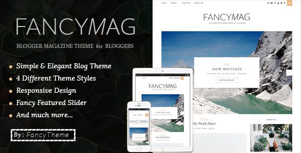 FancyMag – Clean & Personal Blogger Theme             TFx