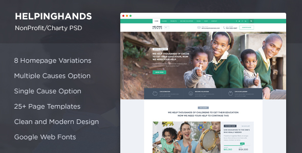 HelpingHands - NonProfit/Charity PSD            TFx