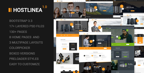 Hostlinea - Web Hosting, Responsive HTML5 Template            TFx