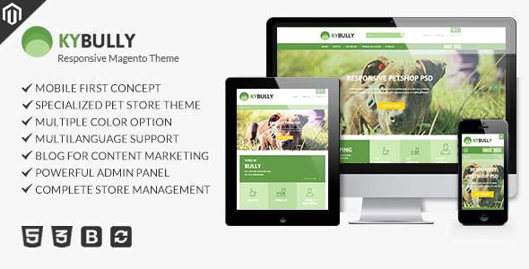 Kybully - Petstore Theme for Magento            TFx