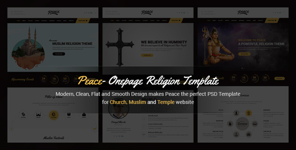 Peace - Church / Muslims / Temple HTML Template            TFx
