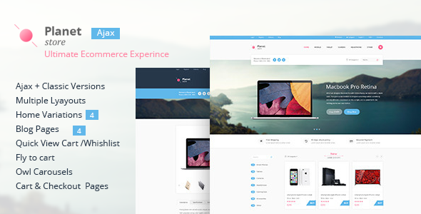 Planet Store - Ecommerce HTML Template            TFx