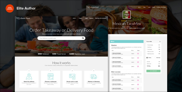 QuickFood - Delivery or Takeaway Food Template            TFx
