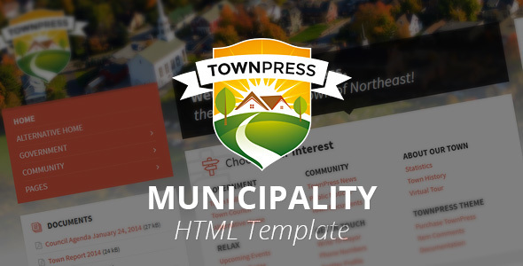 TownPress - Municipality HTML Template            TFx