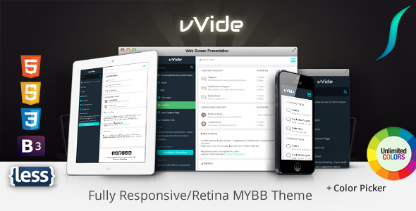Wide - Fully Responsive MyBB Theme + Color Picker            TFx