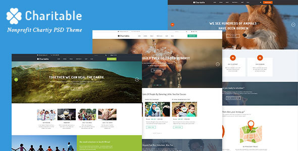 Charitable - Nonprofit Organization PSD Theme            TFx