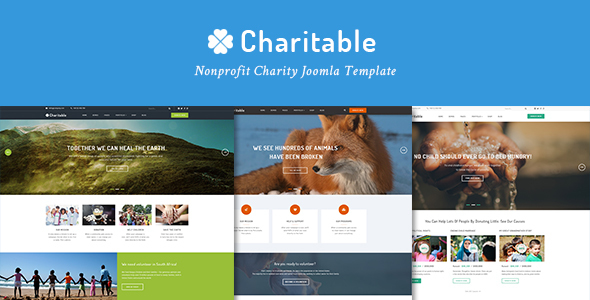 Charitable Responsive Nonprofit Charity Joomla Template            TFx