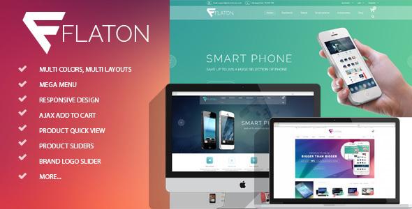 Flaton - Responsive Shopify Digital Theme            TFx