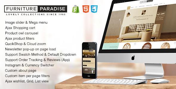 Furniture Paradise - A Resposive Shopify Theme            TFx