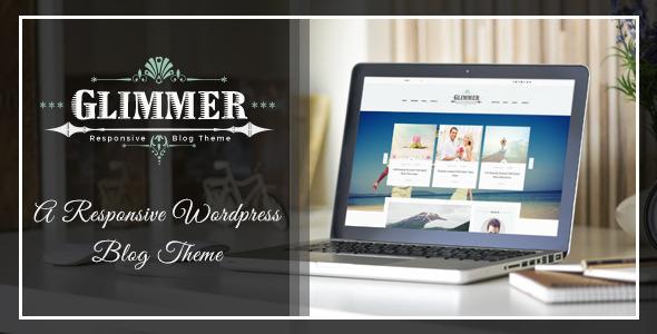 Glimmer - A Responsive Drupal Blog Theme            TFx
