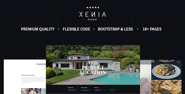 HOTEL XENIA - Hotel & Resort Bootstrap Template            TFx