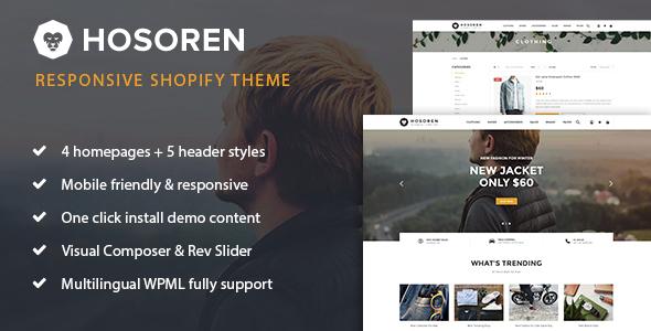 Hosoren - Responsive Shopify Theme            TFx