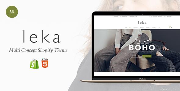 Leka - Amazing Responsive Shopify Theme            TFx