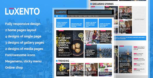 Luxento Magazine HTML5 template            TFx