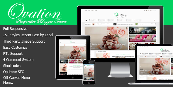 Ovation - News/Magazine Responsive Blogger Theme             TFx