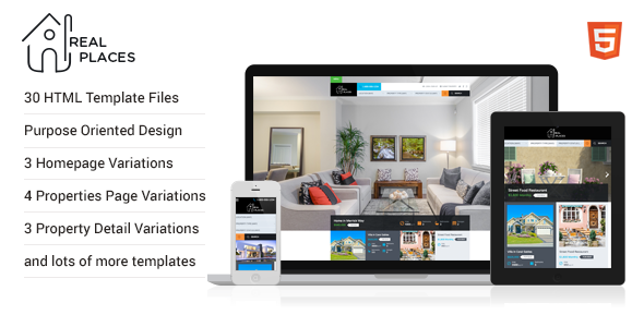 Real Places - HTML5 Template for Real Estate            TFx