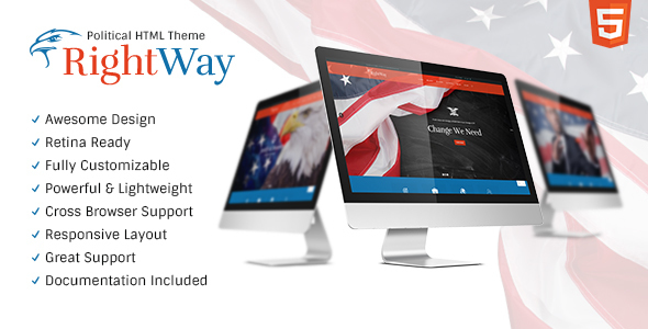 Right Way | Politics & Activism Site Template            TFx