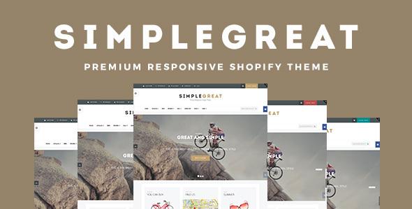 SimpleGreat - Premium Responsive Shopify Theme            TFx