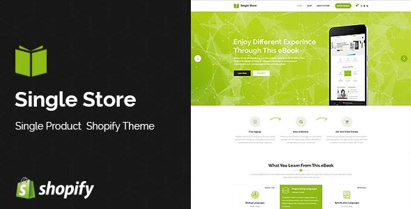 Single Store | Single Product Shopify Theme            TFx