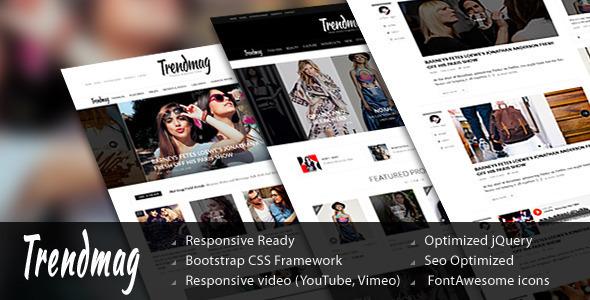 Trend Mag Magazine Drupal theme            TFx
