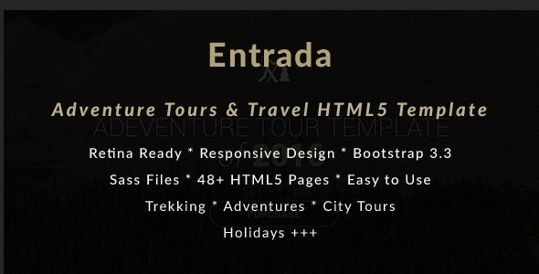 Adventure Tours and Travel HTML Template - Entrada            TFx