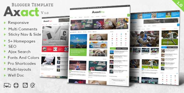 Axact - Responsive Magazine Blogger Theme            TFx