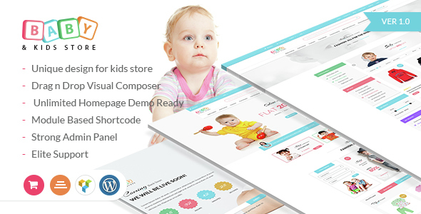 Baby & Kids Store eCommerce WordPress Theme            TFx