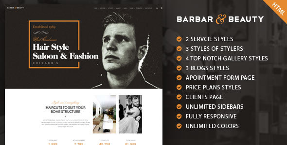 Barbar | Multipurpose Beauty & Health HTML Template             TFx