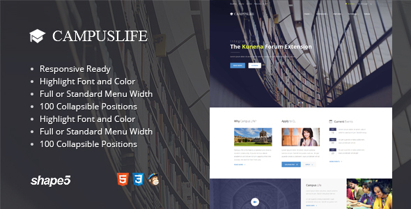 Campus Life - Responsive Education Template            TFx