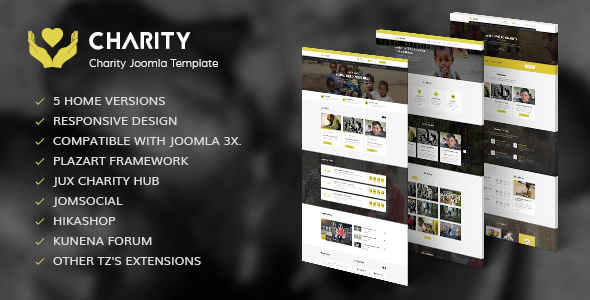 Charity - Nonprofit, Fundraising Joomla Template            TFx
