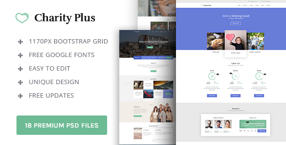 Charity Plus - Charity / Nonprofit PSD Template            TFx