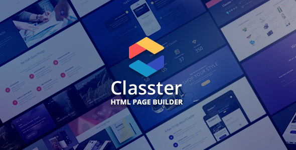 Classter - Landing Page Set With Page Builder            TFx